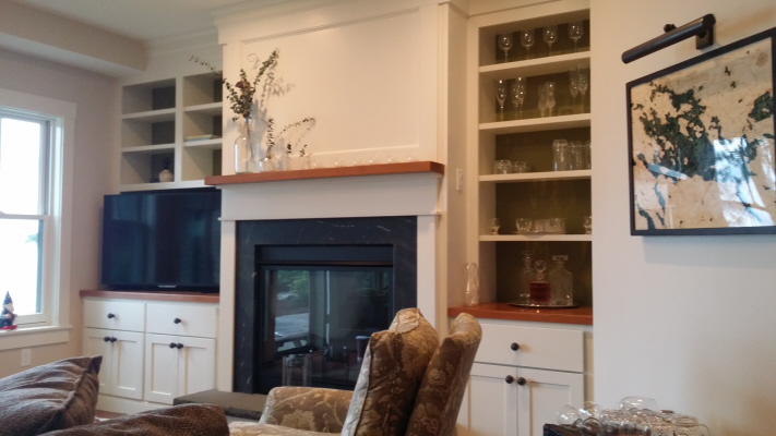 Maple and Cherry Built-in