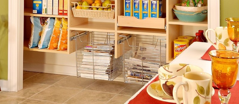pantry roll-out baskets